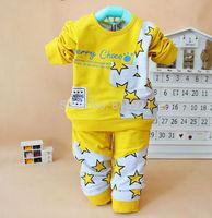 2015 New baby spring cotton underwear set Star pattern small children clothing set 1634