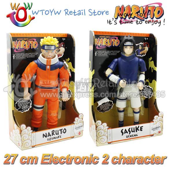 10pcs/lot free shipping 29 cm electronic 2014 new move & sound naruto & Sasuke Japanese anime action figures brinquedos boys(China (Mainland))