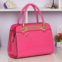 Fashion women's handbag candy color crocodile pattern handbag shoulder bag cross-body candy tassel bag
