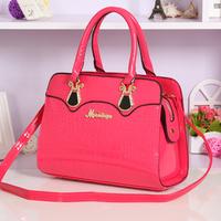 Fashion 2014 women's handbag crocodile pattern handbag women's bridal bag marry bag messenger bag