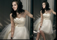 2014 Fashion New Arrival Excellent Multi Layer Puffy Skirt Short Wedding Dress free shipping