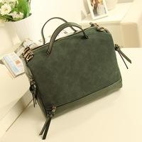 Women's leather Handbags, matte PU leather handbag, fashion Tassel Shoulder Messenger Bag wholesale, free shipping