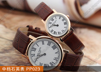 2014 fashion luxury brand male wristwatch genuine leather strap mechanical hand wind wrist watch for men waterproof brown