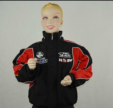 F1 halton roupas automóvel corrida automóvel de corrida criança de algodão acolchoado jaqueta outerwear jaqueta cheia bordado rjc005w(China (Mainland))