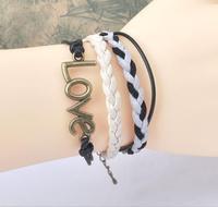 Bronze large Love rice Bai Sheng braided bracelet hand rope