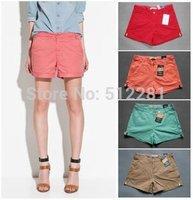 2014 hot sale 100% cotton candy color women shorts women hot shorts
