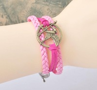 Tan restoring ancient ways of hungry birds Pink mei red hand knitting bracelet hand rope