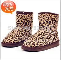 2014 NEW Short Winter women snow boots for Lady women  5825 Leopard boots shoes 5 color  size 35-40  Wholesale