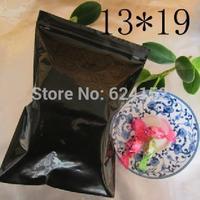 Zip Lock Packing Bags black PE Resealable Bags 13x19cm Thickness 0.13mm 100pcs per lot zipper plastic bags