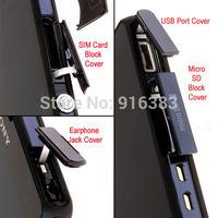 Super Quality Waterproof & Anti-dust Cover Flap Set for Sony Xperia Z L36h USB Port+Earphone Jack+Micro SD+SIM Card Block Cove