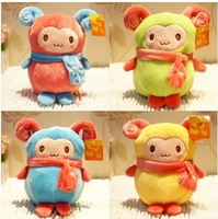 5pcs/lot free shipping Fashion cartoon sheep doll plush children toy ,fashion party gift wholesale