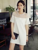 New 2014 women summer dress short-sleeve solid gauze OL fashion chiffon dress girl casual dress plus size loose S-XL