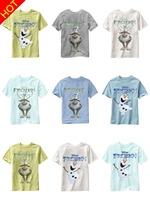 New 2014 Arrival Frozen T-shirt Children T shirt Fashion Boys Clothes Boy Tees 100% Cotton 31086