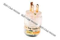 White New CMC Ti2000M Top Audio grade Pure Red Copper US AC power plug 5pcs free shipping