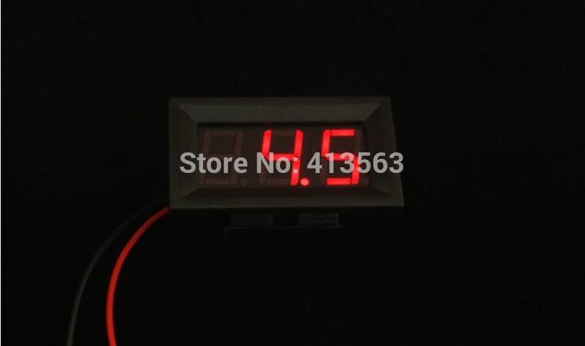 DC 3.2V to 30V Digital Voltmeter Voltage Panel Meter For 6V 12V Electromobile Motorcycle Car #00005-#0005(China (Mainland))