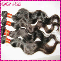 "HOT Queen! 7A Virgin Eurasian Natural body Wave hair extensions 4/5bundles 12""-28"" 95-100g/piece ,thick for a full head"