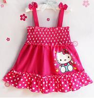Hello kitty dress,vestidos de menina,Brand,new 2014,bebe,baby girl dress,girl party dress,baby wear,kids girl clothes