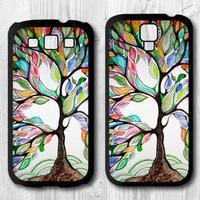 5 pcs Tree Of Life Hard Black Hard Cover Case For Samsung Galaxy S4 i9500 S3 i9300