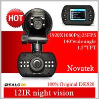 2014 New Arrival DealCoo Car DVR DK620 Super Mini Car Camera 1080P Full HD Novatek Chipset Vehicle Black BoxG-sensor Dashboard