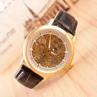 Three colors New Famous Brand Fashion Casual Stainless Steel Men Mechanical waterproof Watch Skeleton Watch Dress Wristwatch