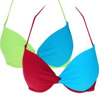 Swimwear female small steel push up sexy bikini cup abcde cup size