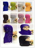 SYF061 rhinestones muslim hijab,islamic scarf free shipping by DHL,fast delivery,assorted colors
