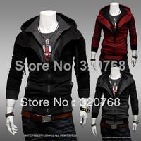 Free Shipping Men's Top Brand New Winter Hooded Sweatshirts Dress Coat Mens Sports Casual Sweatshirt Jackets Outerwear M-XXL