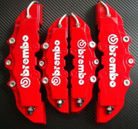 3D Brembo Style 2pcs Front+ 2pcs Rear Disc Brake Caliper Cover Universal Car Truck Free Shipping 4pcs/set