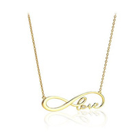 Min 1pc Forever love infinity necklace, high quality gold and silver plated jewelry XL097