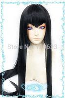 NEW Kill la Kill Kiryuin Satsuki 80CM long straight black cosplay wig  Kanekalon Fiber Hair wigs Free Shipping