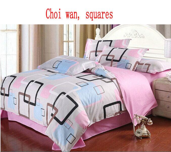 quente novo& lençol de algodão, jogo do fundamento 4pc sem o enchimento, 100% algodão moda conjuntos de cama de luxo, cama queen size linho(China (Mainland))
