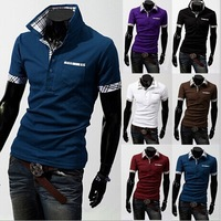 2014 new! detonation model of short sleeve POLO shirt menswear fawn embroidery short-sleeved  Q01