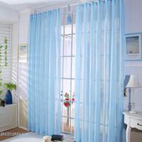 Hi-Quality curtain window screening Fabric/Finished product balcony all-match blue yarn