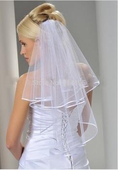 Вэу-де-noiva белый фата свадьба фата с расчёска свадебная вуаль