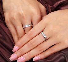 AMOR WITNESS OF LOVE SERIES NATURAL DIAMOND 18K WHITE GOLD LOVERS RING JBFZSJZ014