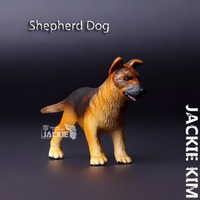 Free shipping Safari (Genuine bulk) German Shepherd puppies Dog Animal model simulation solid educational Toy for children