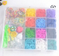 3sets new 2014 22grids 2400rubbers Loom bands Kit knitting machines Children fun loom