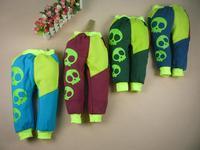 Retail one-piece Cotton cool skull pocket winter warm kid children trousers Children's leisure casual pants 2014 KP060R