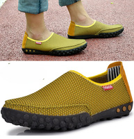 3 Colours Set foot lazy casual shoes Korean version of the hollow mesh breathable shoes tide shoes big yards Peas