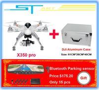 WALKERA QR X350 Pro GPS Drone 6CH Brushless motor DEVO F7 FPV with DJI Phantom 2 Vision Aluminum Case RC Quadcopter E helikopter