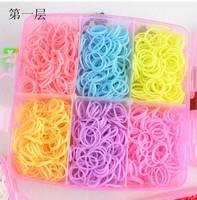 3sets new 2014 Three layer loom kit box Loom rubber bands Kit knitting machines Children fun loom