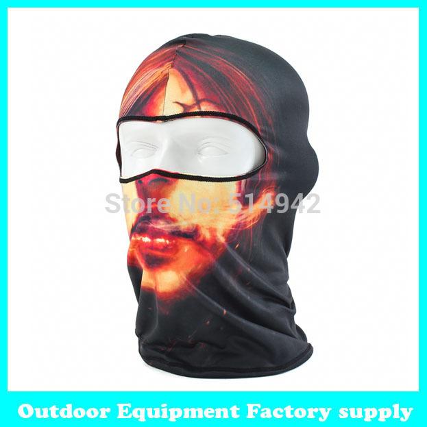 Dropshipping Distinctive Styles of Windproof Skull Mask Hood Full Warm Riding CS field training Free shipping neck face mask(China (Mainland))