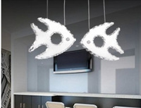new creative guaranteed 100% sweet fish modern dinning table crystal LED pendant lights, fashion home decoration bar light