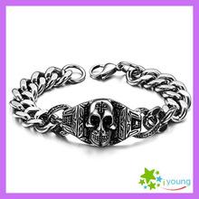 Free Shipping Vintage Men Accessories Personalized Skeleton Skull Bracelet 316L Titanium Steel Bracelets Engagement Wholesale