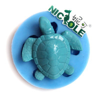 Free Shipping 1pcs Fondant Cake Mold Turtle DIY Handmade Soap Mold Silicone Mold Chocolate Molds For the Baking Mold F0697