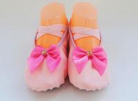 Square drill bow 100% cotton tip dance shoes ballet shoes practice shoes cat shoes