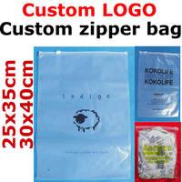 custom printed logo zipper bag/ zip lock plastic gift opp bag