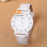 super popular pure white color fashion casual design hot selling bracelet unisex watch high quality free shipping B-603#