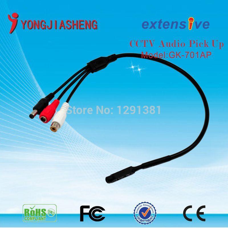 10PCS Mini MIC CCTV sound monitor audio monitor microphone sound pick up(China (Mainland))
