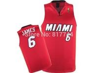 2014 new free shipping Lebron James Jersey Miami jersey Sleeveness Basketball jersey sport tops jersey